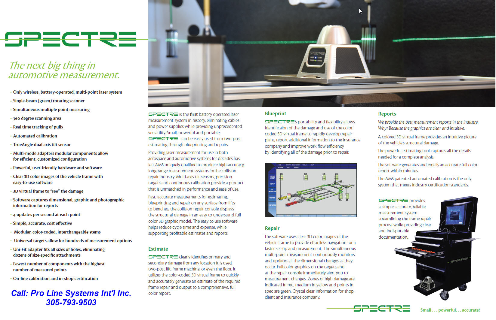 Spectre Laser Electronic Measuring System - Pro Line Systems