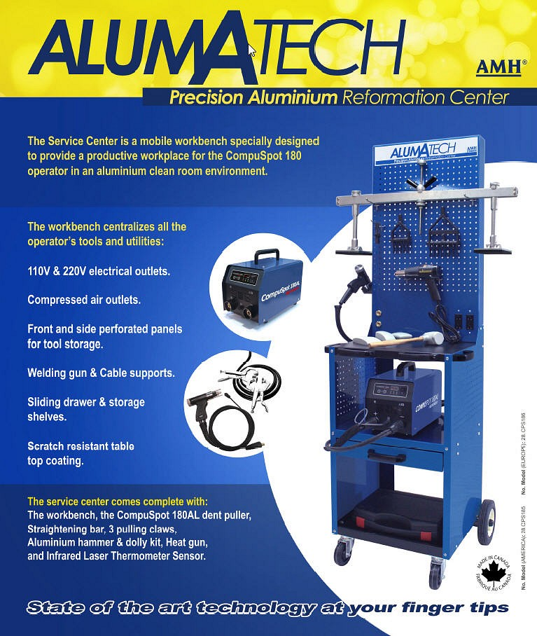 Alumatech Aluminum Dent Repair Work Station