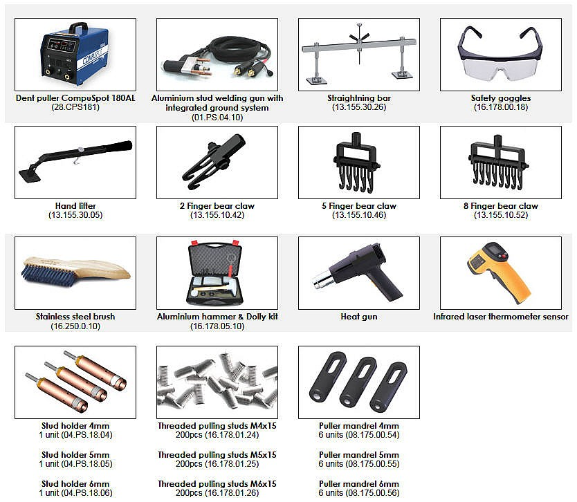 Included Accessories with  Alumatech Workcenter
