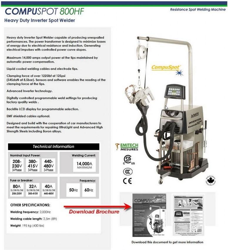 Compuspot Inverter Spot Welders Pro Line Systems