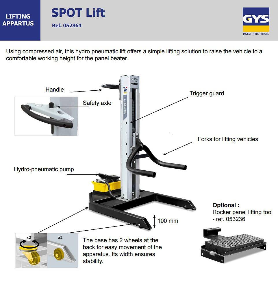 SPOT LIFT 3T Car Lift by GYS - Pro Line Systems