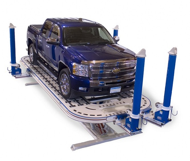 American Freedom GT Frame Machine with Pickup Truck