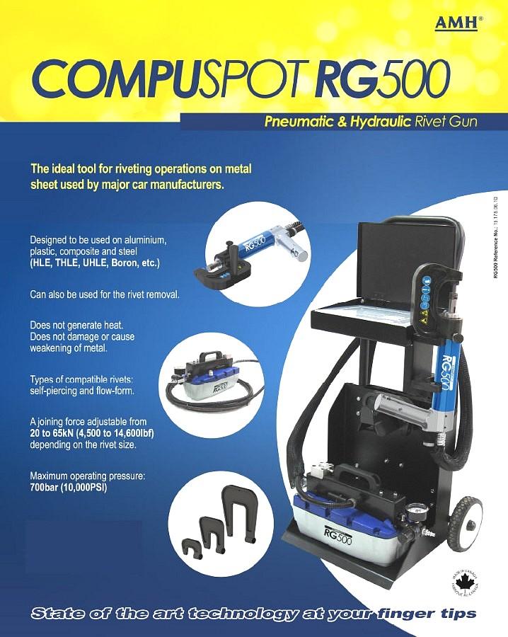 Self Piercing Rivet Gun Compuspot Rg500 Pro Line Systems