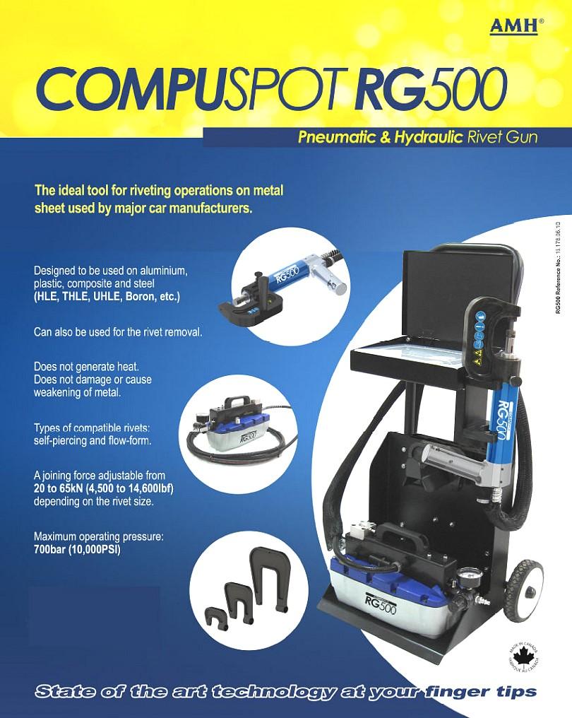 Self Piercing Rivet Gun Compuspot Rg500 Hydraulic Pro