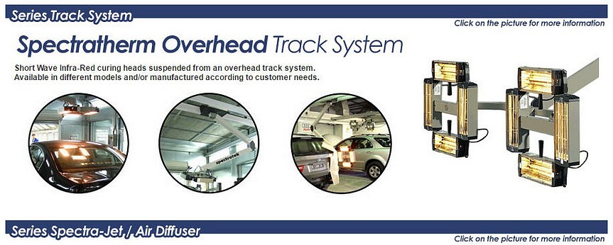 Spectratek IR & UV Overhead Track Paint Curing System