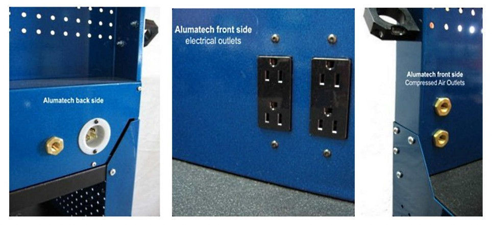 alumatech rear panel electrical & air ports