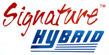 Signature Hybrid Frame Machine Logo