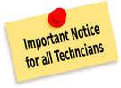 Technician Notice for aluminum repair