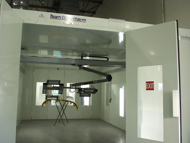 spectratek overhead curing system in spraybooth