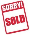 Sorry Sold Sign