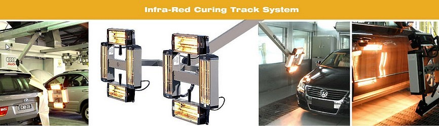 Spectratek Overhead Paint Curing System Collage
