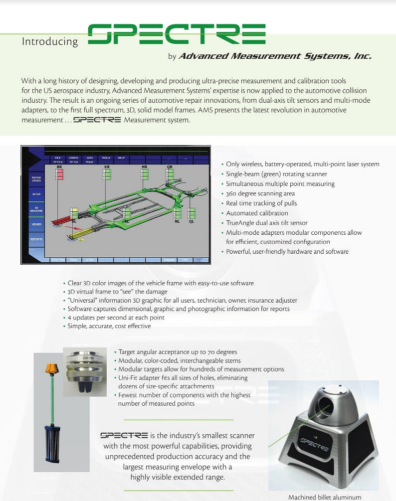 Spectre Electronic Laser Measuring System Introduction