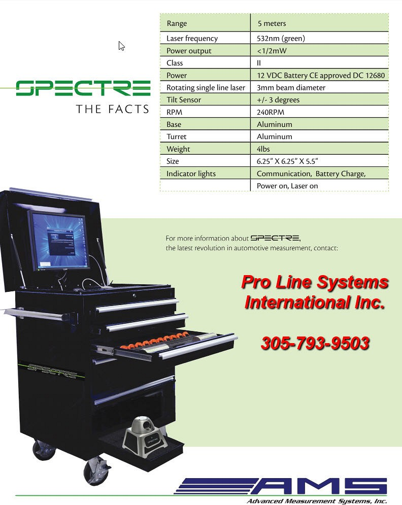 Spectre Electronic Laser Measuring System