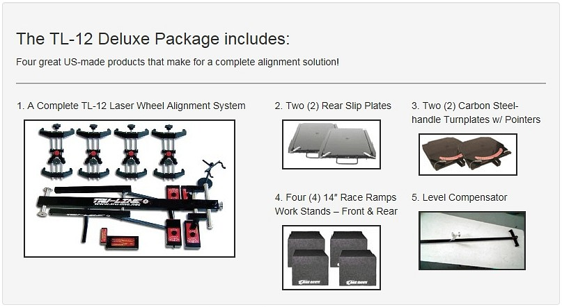 True Line TL-12 Deluxe Laser Wheel Alignment System