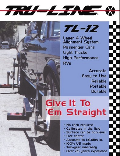 Tru Line Laser Wheel Alignment System Brochure