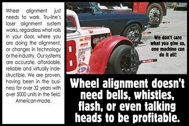 tru line laser wheel alignment system technology