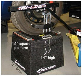 Wheel stand for tru line wheel alignment
