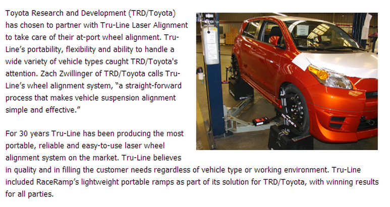 Toyota Alignment System set up
