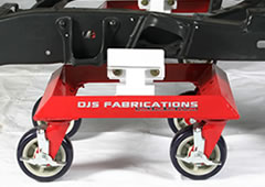 DJS car dolly on frame rail