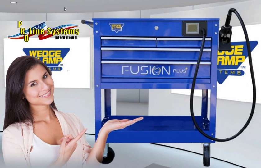 fusion plus plastic welder by wedge clamp