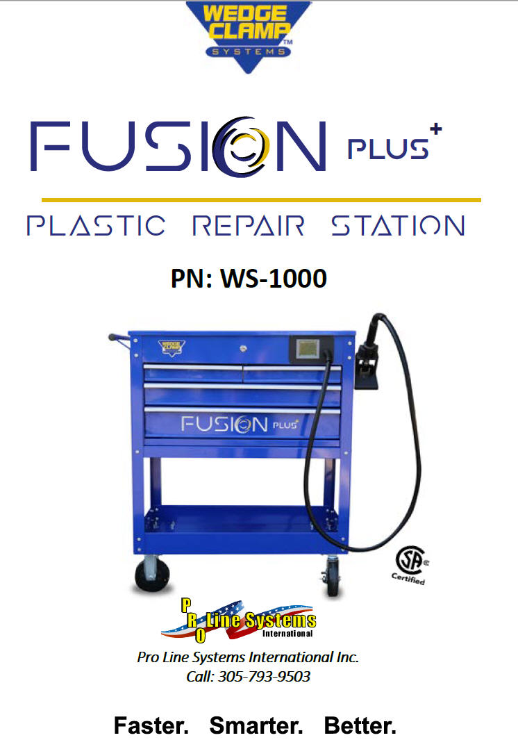 wedge clamp systems Fusion Plus plastic repair station